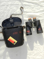 PAIRE JUMELLES U.S. NAVY 1943 BAUSCH  & LOMB + ETUI CUIR - Optique