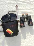 PAIRE JUMELLES U.S. NAVY 1943 BAUSCH  & LOMB + ETUI CUIR - Optics