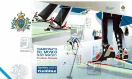 FDC SAN MARINO COUPE DU MONDE DE SKI NORDIQUE TRENTINO FIEMME 2013 - FACIAL 5.23 - Ski