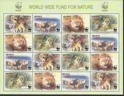 Ghana WWF / Lions / MS With 4 Sets - W.W.F.