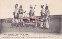 Maroc Equipe De Sapeurs Indigenes Du Génie Devidant Le Fil De La Ligne Télégraphique Taourirt éditeur Boumendil - Andere