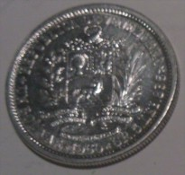 Venezuela 1 Boilivar 1960 UNC Silver - Venezuela