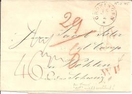 NLC010/- NIEDERLANDE -  Groningen 1845, Schön Taxierter Brief  Mit Grenzstempel WP In Die Schweiz - ...-1852 Vorläufer