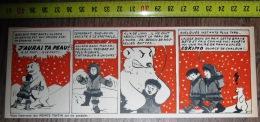 PUB PUBLICITE PANTOUFLES ESKIMO AVEC LE TIMBRE TINTIN OURS POLAIRE D ALASKA - Collections
