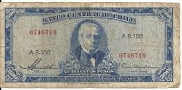 CHILI  500 PESOS ND1947-59 VG+ P 115 - Chile