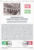 """Document Officiel De 1981 N° 35-81 """" 100 ANS DE LA CAISSE D´EPARGNE """" N° YT 2165 6 + Parfait état + Prix Dégressif ! DPO - Postdokumente"""