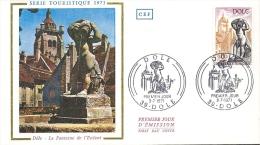 Env Fdc France 3/7/71 Dole, N°1684, Dole, Patrie De Louis Pasteur, La Fontaine De L'enfant - 1970-1979