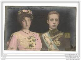 CP - Princesa Ena De Battenberg Et Rey Alfonso XIII De Espana - Simple-circulé - - Case Reali