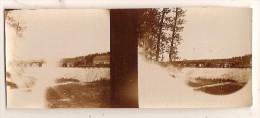 Photo Stereo Originale Militaria  WWI  Les Islettes Voie De Chemin De Fer - Guerre, Militaire