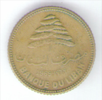 LIBANO 5 PIASTRES 1969 - Libano