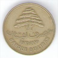 LIBANO 25 PIASTRES 1970 - Libano