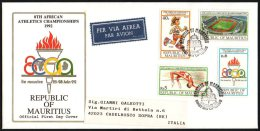 MAURITIUS 1992 - 8th AFRICAN ATHLETICS CHAMPIONSHIPS - MAILED FDC - Atletica