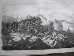 Crimean War - Die Belagerung Von Kars  -Der Sturm Der Russen - Russia -Ukraine Sevastopol- 1858 - Engraving-ILZ1856.1 - Prenten & Gravure