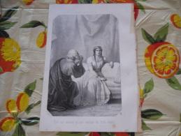 LITOGRAFIA INCISIONE AMALASUNTA IMPERATRICE OSTROGOTI 1800 ORIGINALE - Lithografieën