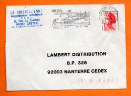 94 CRETEIL   CITE HARMONIEUSE     14 / 5 / 1984   Lettre Entière N° A 987 - Annullamenti Meccanici (pubblicitari)