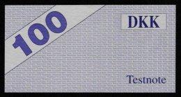 "Test Note ""HESS"" Testnote, 100 DKK, Beids. Druck, RRR, UNC - Dänemark"