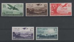 1936 Bimillenario Orazio Posta Aerea Serie Cpl MLH - Nuevos