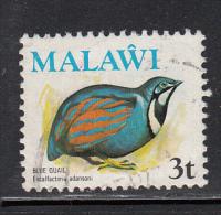 Malawi Used Scott #235 3t Blue Quail - Birds - Malawi (1964-...)