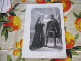 LITOGRAFIA INCISIONE PICCARDA DONATI  1800 ORIGINALE - Litografia