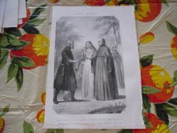 LITOGRAFIA INCISIONE LAURA DE SADE 1800 ORIGINALE - Litografia