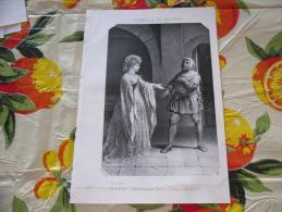 LITOGRAFIA INCISIONE ISABELLA DI BAVIERA REGINA DI FRANCIA  1800 ORIGINALE - Litografia