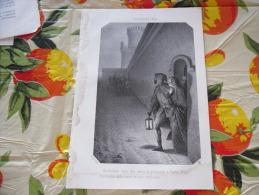 LITOGRAFIA INCISIONE GIACHELINA CONTESSA D'OLANDA E DUCHESSA DI BRABANTE  1800 ORIGINALE - Litografia