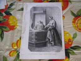 LITOGRAFIA INCISIONE ANNA DI CIPRO DUCHESSA DI SAVOIA  1800 ORIGINALE - Litografia