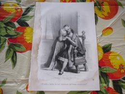 LITOGRAFIA INCISIONE ISABELLA D'ARAGONA DUCHESSA DI MILANO  1800 ORIGINALE - Litografia