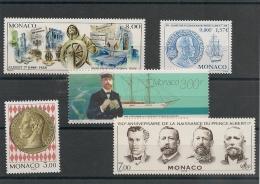 MONACO  Années 1994/2001 Prince Albert 1er  N° Y/T : 1945-2031-2145-2154-2307** - Collections, Lots & Series