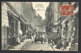 *** Aubenas - Jour De Marché Grand Rue - Rare ! - Aubenas