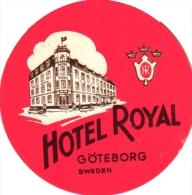 Sweden  SUEDE Zweden 5 Hotel Labels    Goteborg      Park Av        Royal       Eggers       Palace       Grand - Hotel Labels