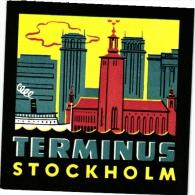 Sweden  Hotel Labels  6 P    Stockholm         Regina  Eden    Terminus   Gillet   Bromma   Carlton - Hotel Labels