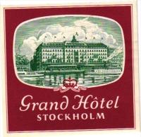 Sweden  Hotel Labels  6 P    Stockholm      Kristineberg    Grand   ALTSJOBADEN  CASTLE   Malmen  Anglais - Hotel Labels