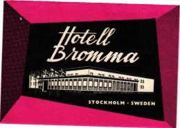 6 Hotel Labels Sweden ZWEDEN SUEDE Malmo  Kramer   Anglais   Arkaden   St Jorgen   Mariestad Stadshotellet    Bromna - Hotel Labels