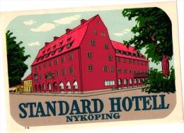 Sweden Zweden SUEDE Hotel Labels  6 P  Frimurarehotellet  Grand Falun  Savoy  Jonkoping   Frimurare  Standard Nyköping - Hotel Labels