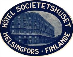 FINLAND  SUOMI  Hotel Labels  3 P Helsingfors  Torni Helsinki  Palace       2   Pub Flag - Hotel Labels