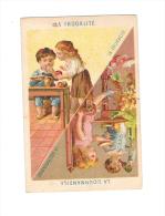 CHROMO LES 5 SENS : GOURMANDISE - FRUGALITE - SCENES D'ENFANTS - - Chromos