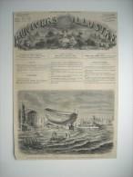 GRAVURE 1864. LANCEMENT DU VAISSEAU L'INTREPIDE, A ROCHEFORT, LE 17 SEPTEMBRE 1864. - Prints & Engravings