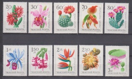 Hungary, Magyar Posta, 1965, Flowers, Orchid, Cactus, Lilly, MNH, *** - Zonder Classificatie