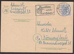 """EA MWSt. """"Achtet Auf Den Kartoffelkäfer!"""" Leipzig C2 1947  Auf Karte - Zone AAS"""