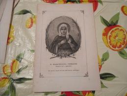 LITOGRAFIA INCISIONE STAMPA S.AMBROGIO PRIMI 900 S.MARCELLINA VERGINE - Litografia