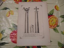 LITOGRAFIA INCISIONE STAMPA S.AMBROGIO PRIMI 900 COLONNE BASILICA AMBROSIANA - Litografia