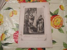 LITOGRAFIA INCISIONE STAMPA S.AMBROGIO PRIMI 900 MASSIMO IMPERATORE - Litografia