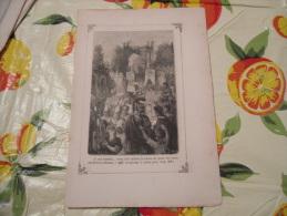 LITOGRAFIA INCISIONE STAMPA S.AMBROGIO PRIMI 900 FUNERALE - Litografia