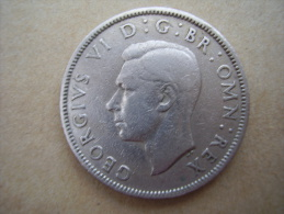 Great Britain 1948 GEORGE VI  TWO SHILLINGS  USED GOOD CONDITION. - 1902-1971 : Post-Victorian Coins