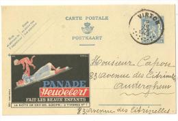 @ CARTE PUB PANADE HEUDEBERT   07/08/1943 ENVOYEE DE VIRTON - Virton