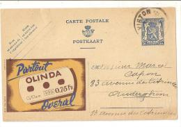 @ CARTE PUB PARTOUT OLINDA OVERAL   18/04/1944 ENVOYEE DE VIRTON - Virton