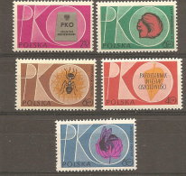 Pologne  Poland Polen Polska  ** MNH   N° YT 1124/28 Caisse Epargne Abeille Bee Abeja Biene écureuil Fourmi - 1944-.... République