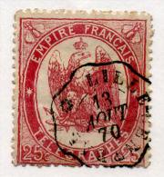 FRANCE - TIMBRE TELEGRAPHE Y&T N° 5 Rouge Carminé - Dentelé Oblitéré 1868 - Télégraphes Et Téléphones