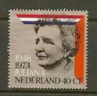 NEDERLAND 1973 MNH Stamps Silver Jubilee 1036 #1943 - Period 1949-1980 (Juliana)